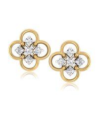 Forever Carat Real Diamond Earrings in 100% Certified 925 ...