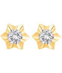 Voylla 18k Hallmarked Gold Start Shaped Stud Earrings: Buy ...