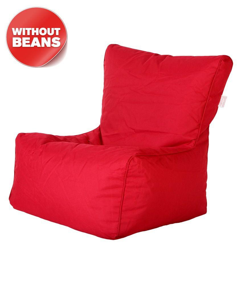 Comfy Bean Bag Biggie Bean Chair XL Size Red Best Price in