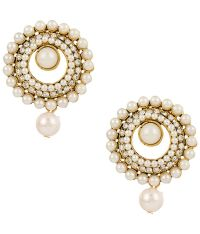 Voylla Pretty Gold Plated Stud Earrings: Buy Voylla Pretty