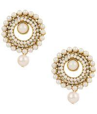 Voylla Pretty Gold Plated Stud Earrings: Buy Voylla Pretty ...