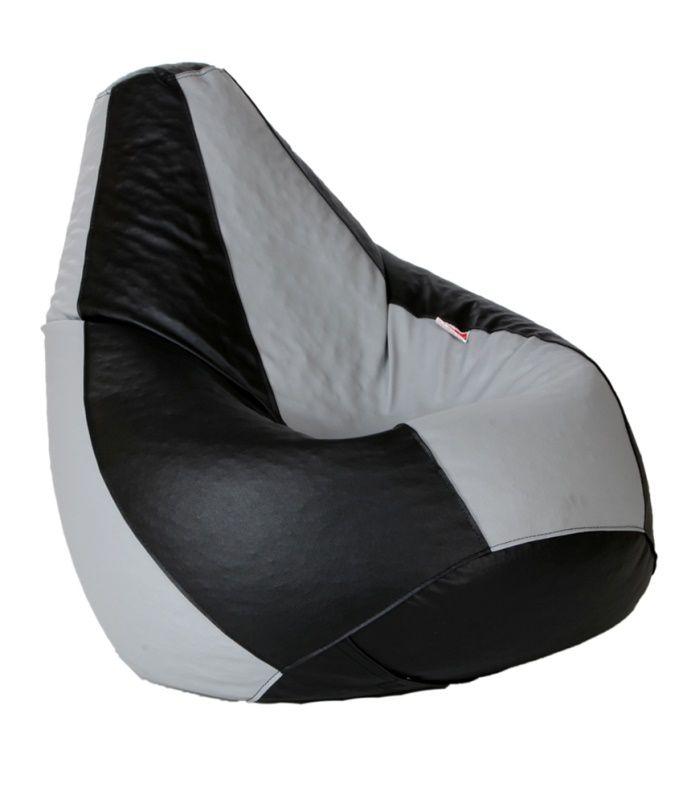 Comfy Bean Bag Cozy Bean Bag Xl Size Black And Grey with