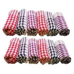 Kitchen Napkins Racks Bigtreemart Multicolor Cotton Set Of 12 Buy