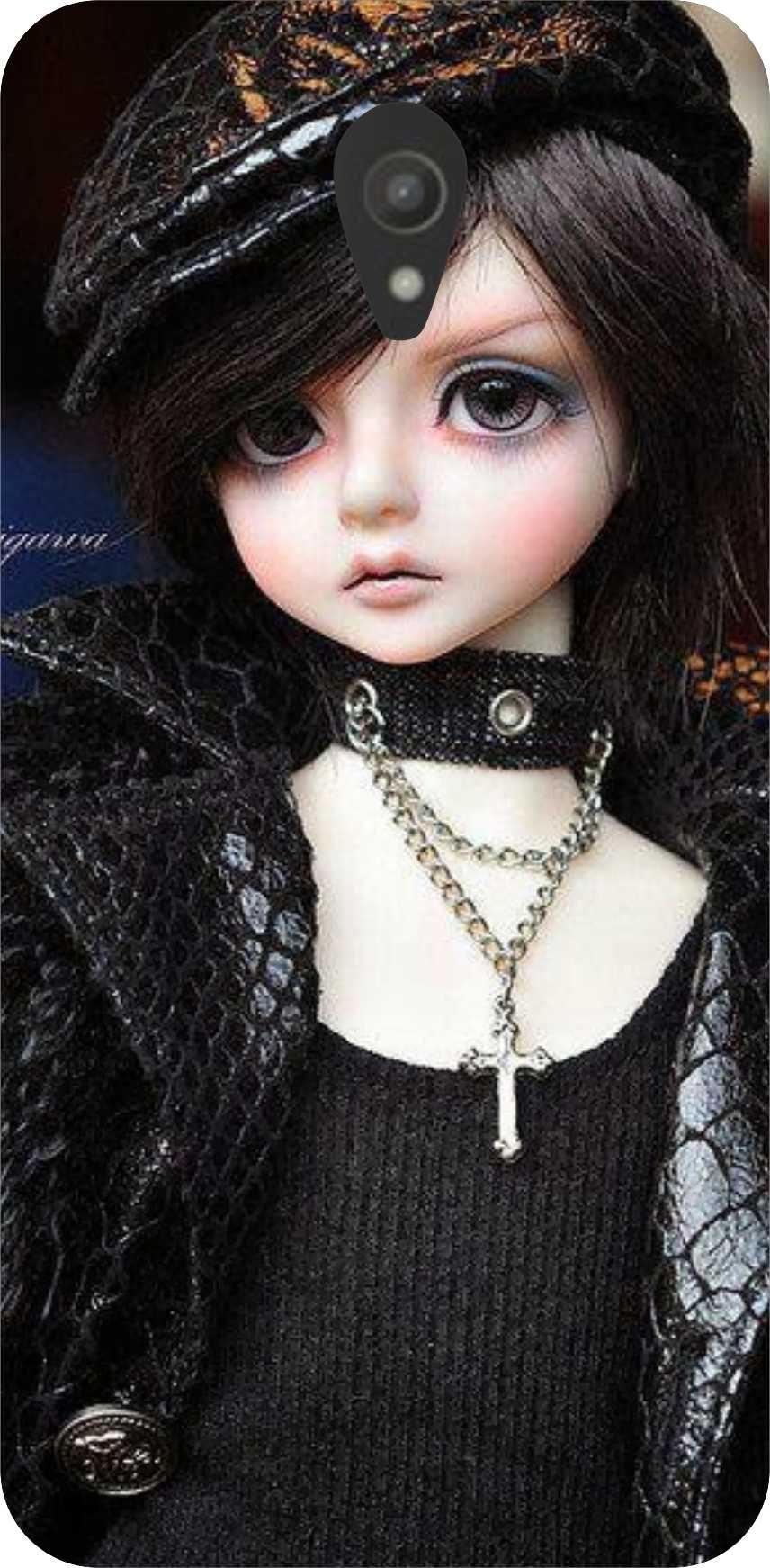 dot print barbie doll