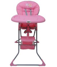Happy Kids Pink Baby High Chair