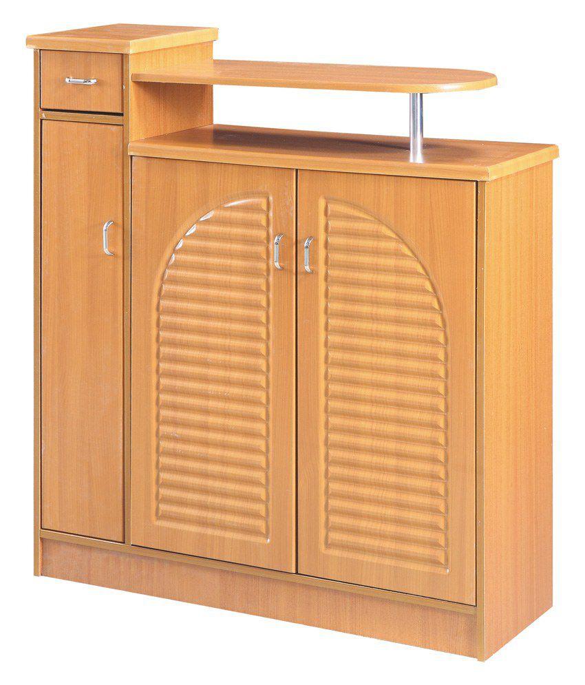 Multipurpose Storage Cabinet Organizer in Natural Finish