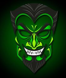 devil horror epic background spooky ink skin laptop zoom installation sold