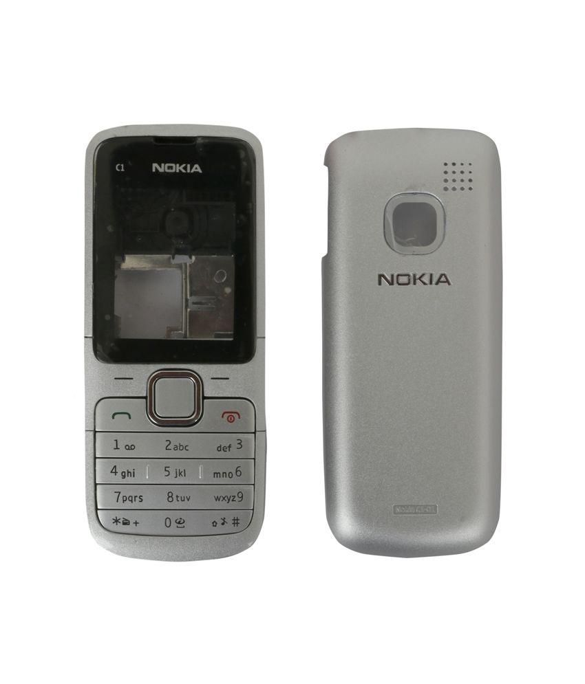 hight resolution of ekon housing body panel for nokia c1 01 white mobile spare parts online at low prices snapdeal india