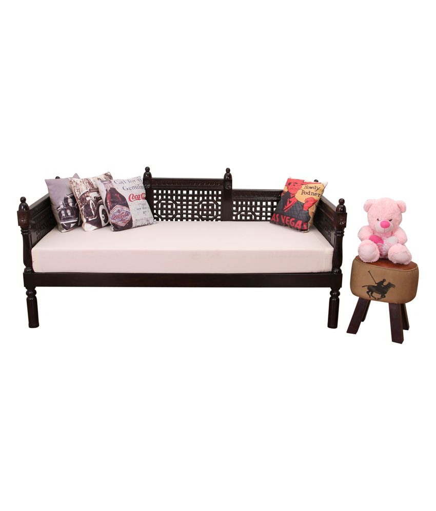 living room mattress india modern style furniture induscraft ziyo wooden sofa cum diwan with buy