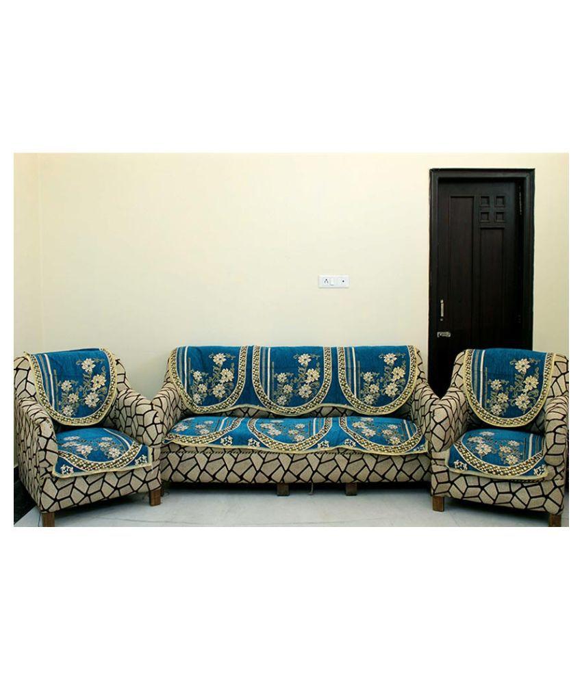sofa covers low price restoration hardware belgian linen reviews creative hub blue velvet set of 6 buy online at snapdeal