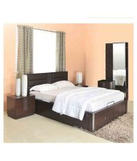 @home by Nilkamal Triumph Storage Queen Size Bedroom Set ...