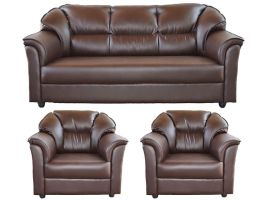 Westido Manhattan Brown 3+1+1 Seater Sofa Set   Buy ...