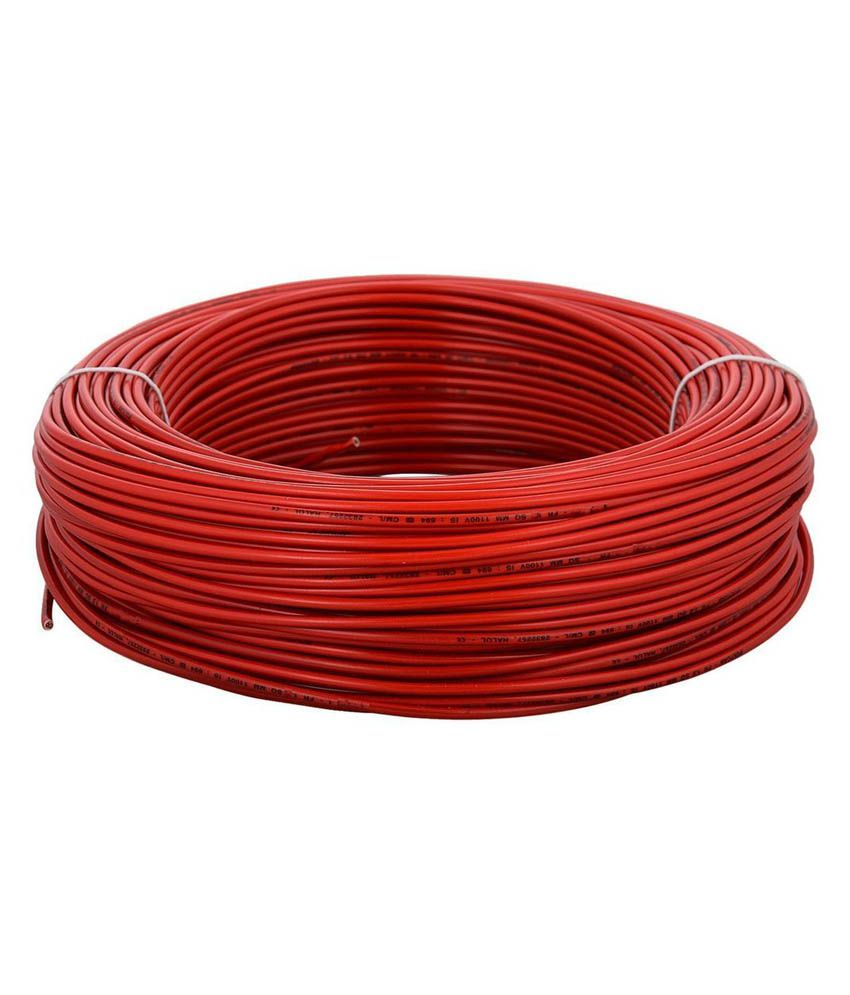 medium resolution of buy kundan cab house wire red 1 sqmm 90 mtrs online at low price in india snapdeal