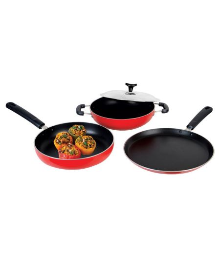 Crystal Non-Stick Cookware Set of 3