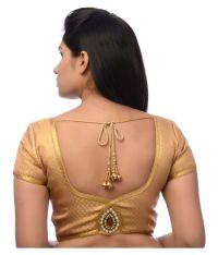 Atulya Designer Blouse Gold Sweetheart Shape Back Blouse ...