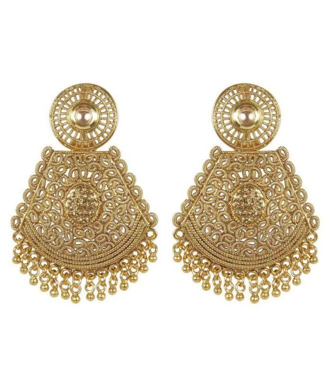 Much More Golden Chandelier Earrings