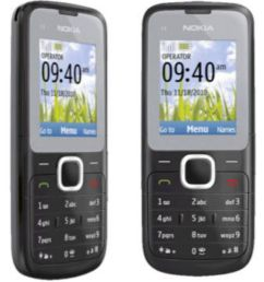 rufi nokia c1 01 refurbished unused re boxed mobile black grey feature phone online at low prices snapdeal india [ 850 x 995 Pixel ]