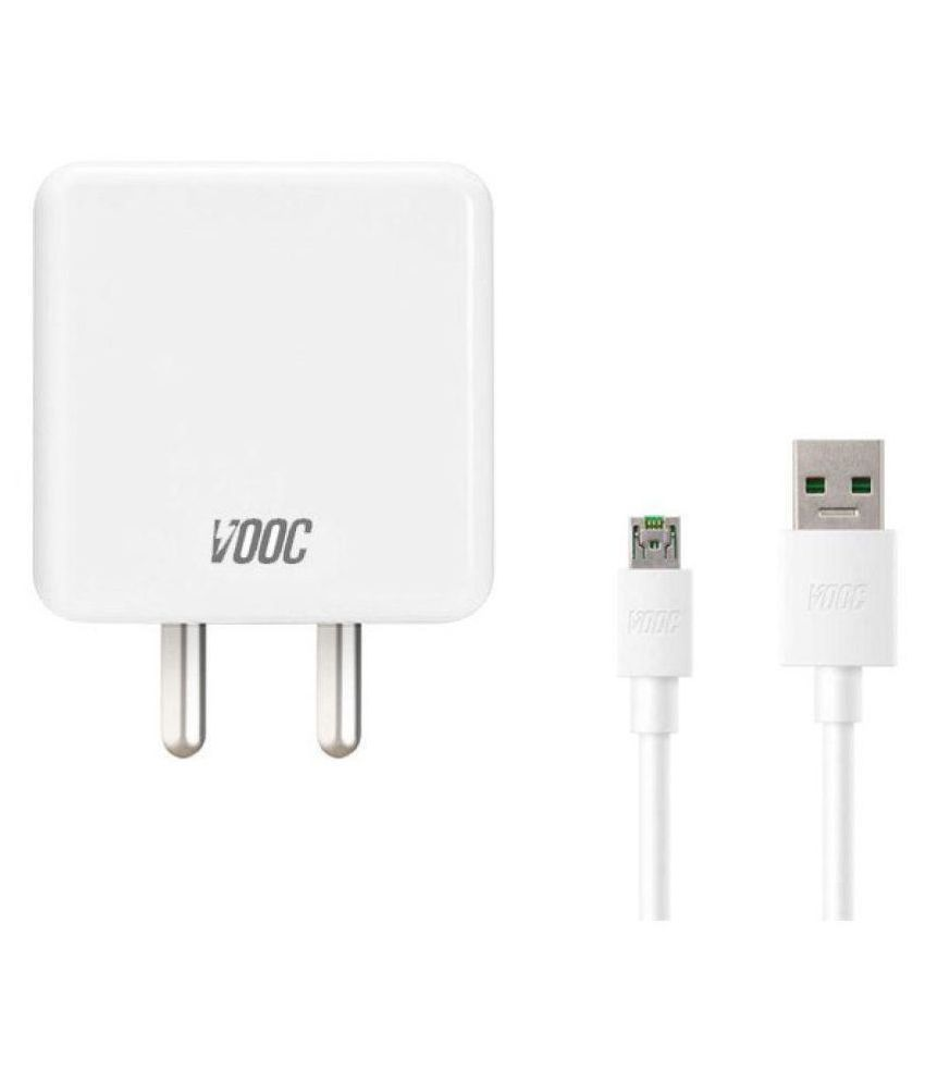 Oppo 4A Travel Charger VOOC with VOOC Micro USB Cable for