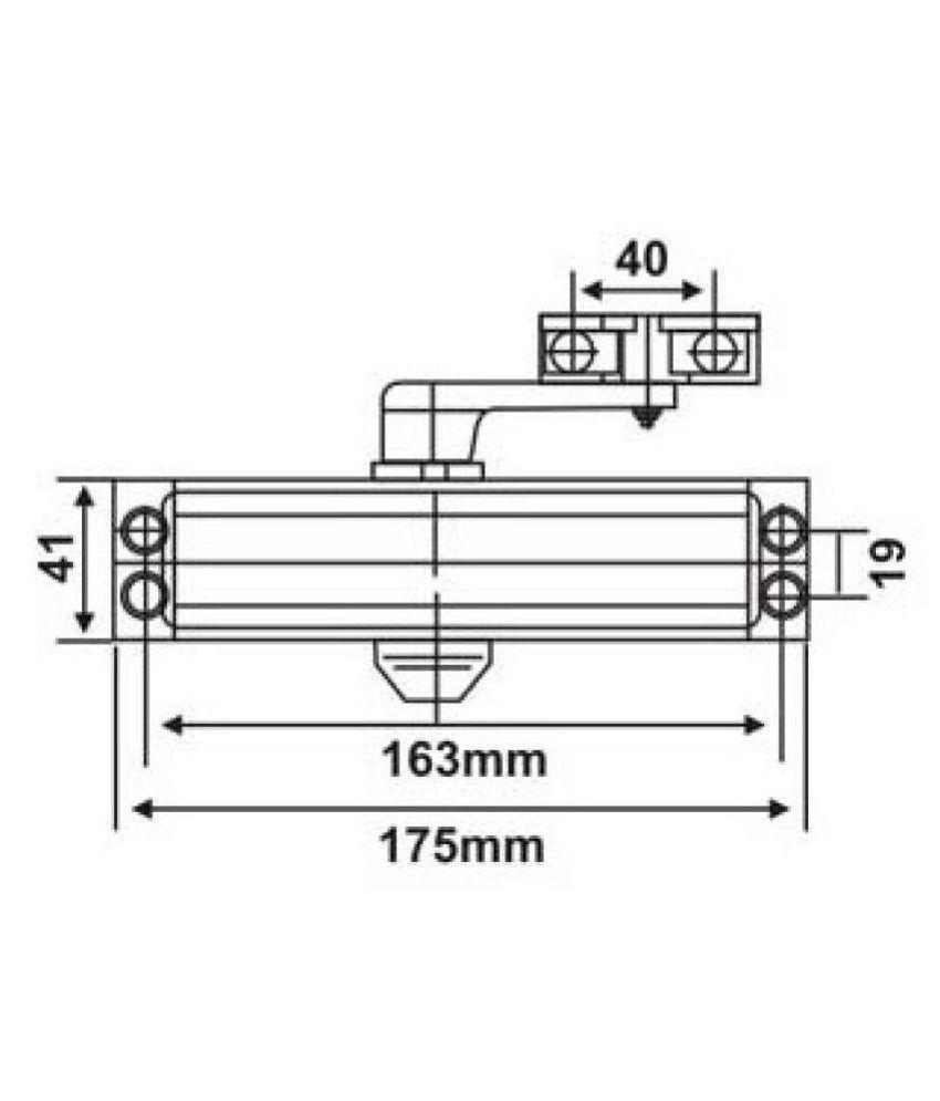 hight resolution of  spider universal hydraulic door closer double speed dca911s
