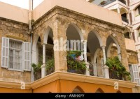 Ornamental parapets of balconies Beirut Lebanon Stock ...