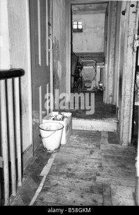 The Interior of slum housing in an area of Newcastle The ...