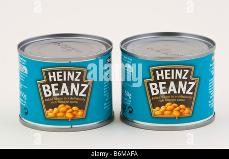 Cans of Heinz Baked Beans in Tomato sauce and Heinz