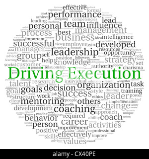 Execution word on word cloud business concept Stock Photo