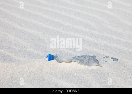 Plastic garbage has washed ashore on a remote island in