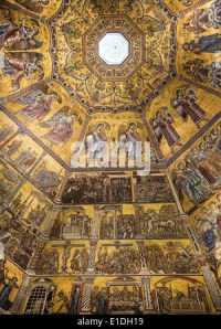 Ceiling painting of the Baptistery of San Giovanni