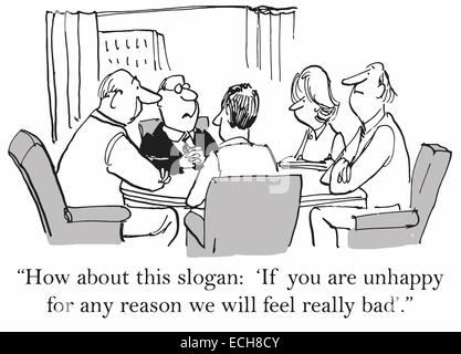 Business cartoon about bad customer service Stock Photo
