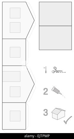 Template of a cute and neat little house, that can easily