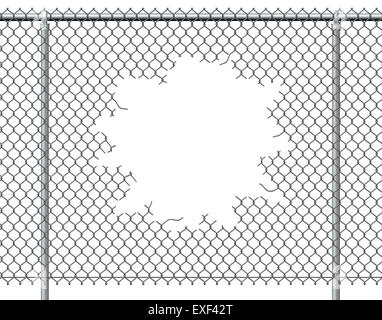 metal background ripped hole Stock Photo, Royalty Free