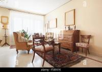 Classic white apartment interior with luxury fitted ...