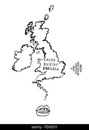 Dictionary of english language icon, cartoon style Stock