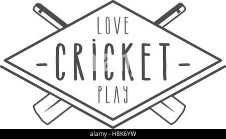 Cricket club emblem and design elements. Cricket team logo