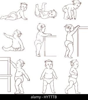 Baby Development Stages Milestones First One Year Stick