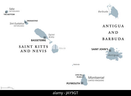 Saint Kitts And Nevis, Antigua And Barbuda, Montserrat