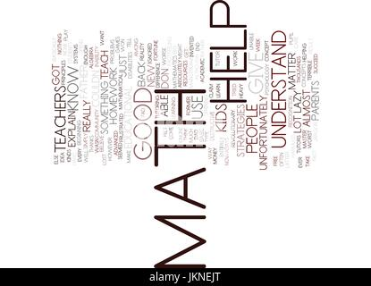 Math concept word cloud background Stock Photo, Royalty