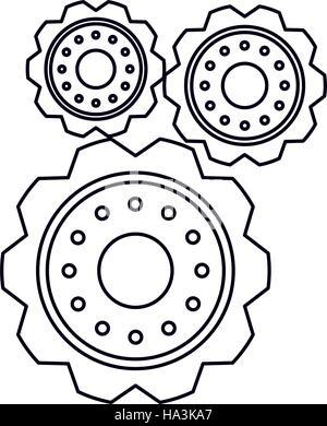 Piktogramm Zahnrad Motor Zahnrad-Symbol Vektor Abbildung