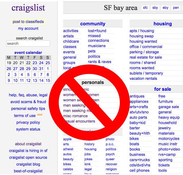 Craigslist-no-personals