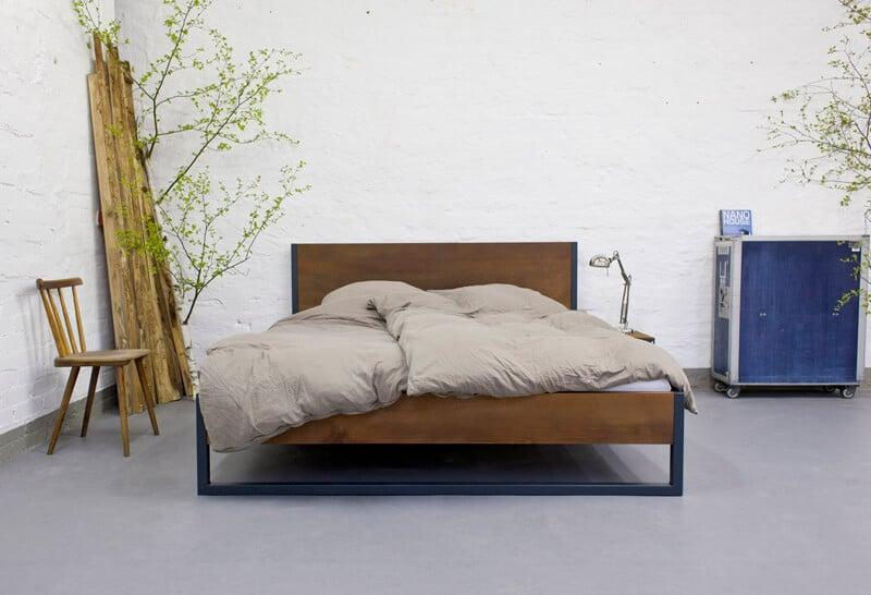 Bett 160x200 Holz Bett 90x200 Kernbuche Massiv Geölt
