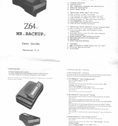 here are high quality scans of the z64 hw2 0 manual warning 300 400k apiece  [ 1055 x 1533 Pixel ]