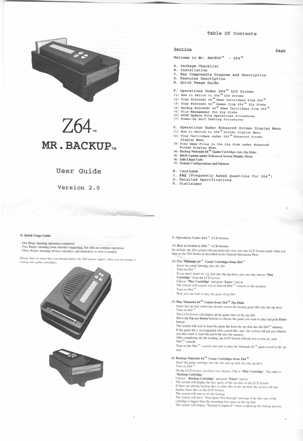 medium resolution of here are high quality scans of the z64 hw2 0 manual warning 300 400k apiece