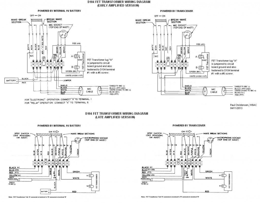 hight resolution of tu astatic d 104 n6pet my ham radio journal tu ham iv control wiring diagram