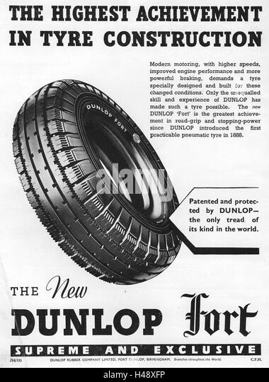 Dunlop Advertising Stock Photos & Dunlop Advertising Stock