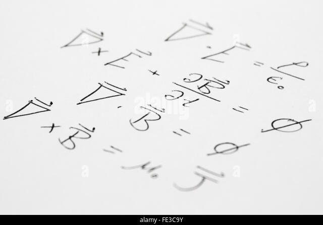 Relativity Theory Formula Stock Photos & Relativity Theory