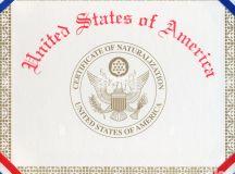 Certificate Of Naturalization Stock Photos & Certificate ...