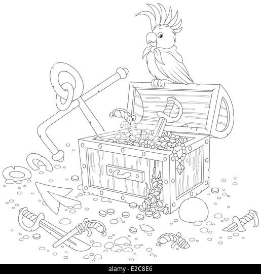 Cartoon Treasure Chest Stock Photos & Cartoon Treasure