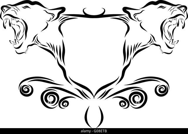 Heraldic Panther Vector Stock Vector Image Of Design