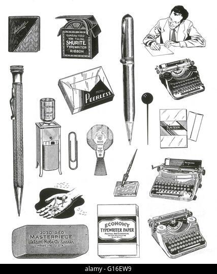 Office Typewriters Stock Photos & Office Typewriters Stock